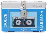 Dolce & Gabbana Blue & Silver Walkman Box Clutch