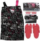 Monster High Big Girls Pink Black Top Sandals Headband Spa Essentials 7-8