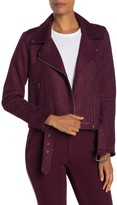 Laundry by Shelli Segal Faux Suede Moto Jacket