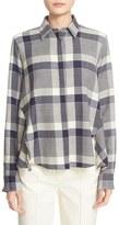 ADAM by Adam Lippes Plaid Wool Trapeze Shirt