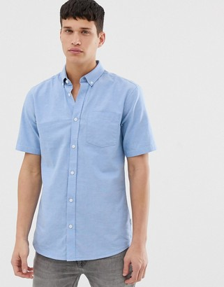 ONLY & SONS short sleeve oxford shirt in light blue