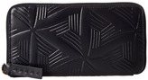 Marni Flower Embossed Calf Leather Card Wallet Wallet Handbags