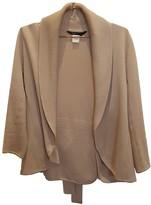 BCBGMAXAZRIA Beige Wool Jacket for Women