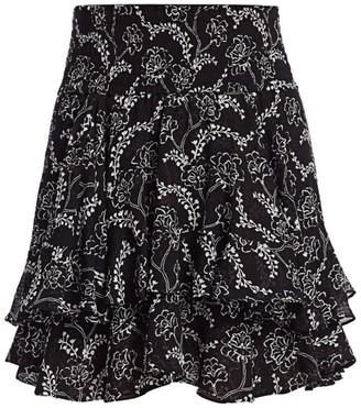 A.L.C. Vera Floral Ruffled Mini Skirt