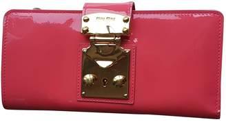 Miu Miu Pink Patent leather Purses, wallets & cases