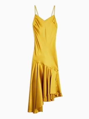 Topshop Bias Midi Slip Dress - Yellow