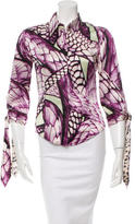 Just Cavalli Silk Printed Top