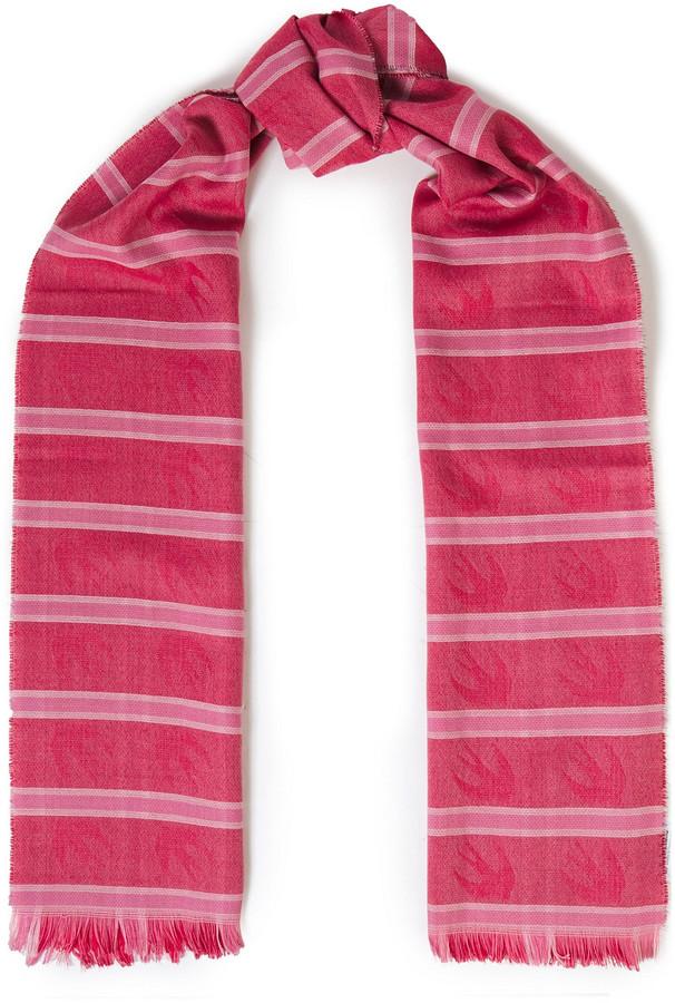McQ Striped Wool-blend Jacquard Scarf