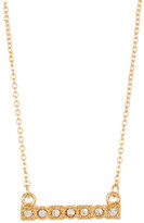 Stephan & Co Dainty Crystal Pave Bar Necklace