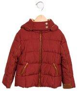Chloé Girls' Hooded Puffer Coat