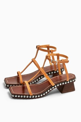 Topshop IDOL VALENTINE Leather Stud Sandals