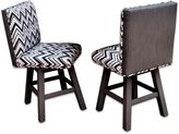 Somers Furniture Poolside Collection Swivel Barstools in Graphite (Set of 2)