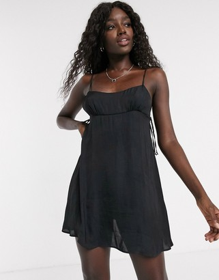 Free People smooth sailin' mini slip dress in black