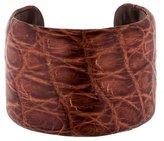 Brunello Cucinelli Embossed Leather Cuff