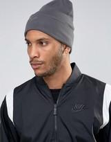 Nike Swoosh Beanie In Grey 803734-021