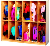 Child Craft Childcraft 2 Tier 12-Section Coat Locker