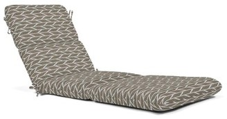 """Charlton Home Indoor/Outdoor Chaise Lounge Cushion Fabric: Gray, Size: 4.5"""" H x 23.5"""" W x 80"""" D"""