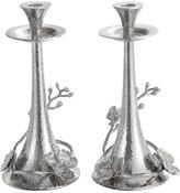 Michael Aram White Orchid Taper Candleholder Set S/2