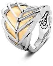 John Hardy 18K Yellow Gold & Sterling Silver Modern Chain Saddle Ring