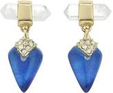 Alexis Bittar Mini Rock Crystal Post Drop Earrings