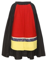 Undercover Wool-trimmed Silk Skirt