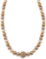 Carolee Necklace, Gold Glass Pearl and Fireball