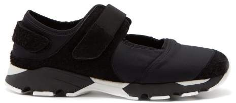 Marni Cut Out Neoprene Low Top Trainers - Mens - Black