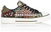 Valentino Women's Beaded Tie-Dyed Canvas Sneakers
