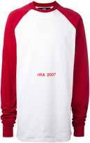 Hood by Air logo print sweatshirt