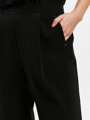 Evans Henna Wide Leg Trouser - Black