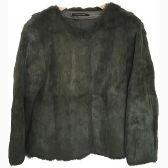 Madame à Paris Khaki Rabbit Jacket for Women