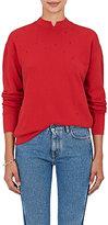 Helmut Lang Women's Distressed Cotton Terry Sweatshirt