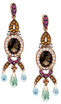 LeVian Crazy Collection Citrine, Topaz, Quartz, Rhodolite and 14K Strawberry Gold Earrings