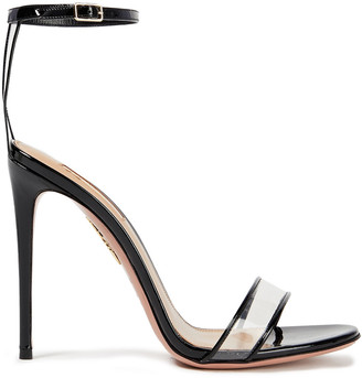 Aquazzura Minute 105 Pvc And Leather Sandals