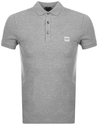 Boss Casual BOSS Passenger Short Sleeved Polo T Shirt Grey