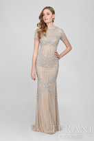 Terani Evening - Stunning Crystal Accented High Neck Mermaid Gown 1721GL4459