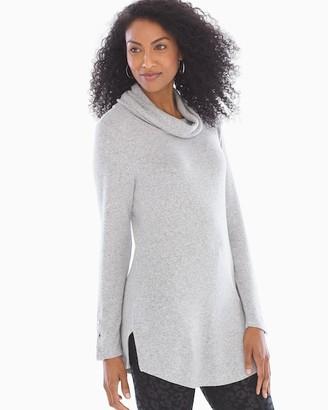 Soma Intimates Brushed Knit Turtleneck Heather Grey