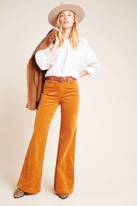 Paige Sutton High-Rise Flare Corduroy Pants