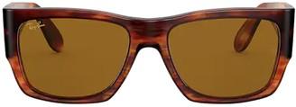 Ray-Ban Rb2187 Striped Havana Sunglasses