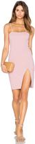 Donna Mizani Straight Neck Mini Dress