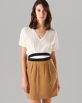 Maje Dress - Azerty Belted Combo