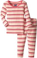 Kickee Pants Print Pajama Set (Baby) - Girl Forest Stripe - New Born