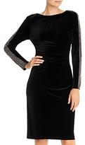 Aqua Velvet Beaded Sheath Dress - 100% Exclusive