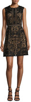 Notte by Marchesa Sleeveless Lace A-Line Dress, Black