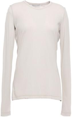 Agnona Cashmere And Cotton-blend Jersey Top