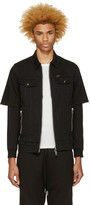 Diesel Black Denim Layered Hober Jacket