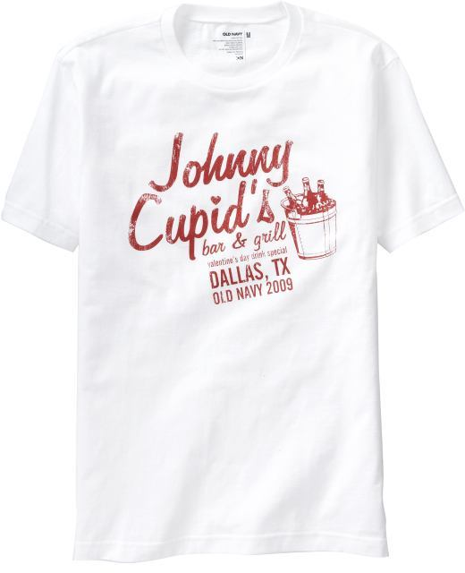"""Old Navy Men's """"Johnny Cupid"""" Graphic Tees"""