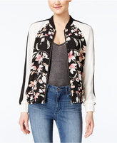 Amy Byer Juniors' Printed Colorblocked Bomber Jacket