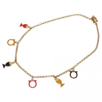 Salvatore Ferragamo Gold Metal Necklaces
