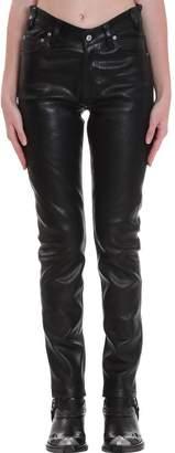 Balenciaga Pants In Black Leather